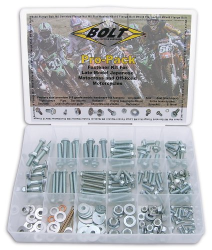Bolt Motorcycle Hardware (2004-PP) Japanese Off-Road Metric Universal Bolt Kit
