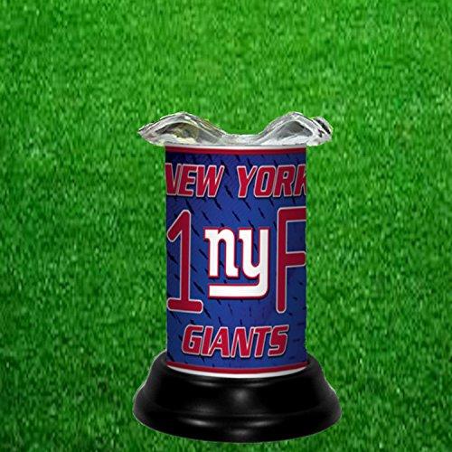 NEW YORK GIANTS TART WARMER - FRAGRANCE LAMP - BY TAGZ (Giants Nfl Candle)
