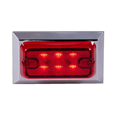 Maxxima M20321R Red Rectangular LED Clearance Marker Light with Chrome Trim: Automotive