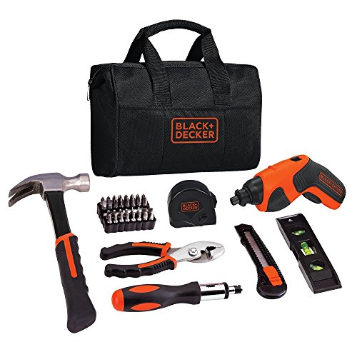 - BLACK+DECKER 4V Cordless Screwdriver & Home Tool Kit, 42 Piece (BDCS20PK)