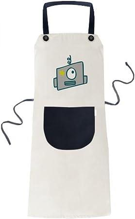 beatChong Universo Y Robot De Cocina Para Cocinar Solo Ojo Ajeno Color Beige Babero Ajustable Regalo Mujeres Bolsillo Del Delantal Del Cocinero Hombres: Amazon.es: Hogar