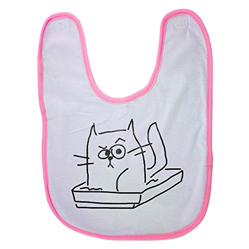 Price comparison product image Pink Baby Bib With Cat in the litter box Baby Boy Bibs,  Dribble Bibs,  Cool Baby Boy Bibs,  Best Baby Bibs,  Best Bibs,  Best Dribble Bibs,  Best Baby Bibs For Drooling,  Cute Baby Bibs,  Cute Baby Boy Bibs