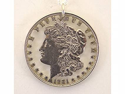 Amazon com: Morgan Dollar with Letters Cut Coin Necklace