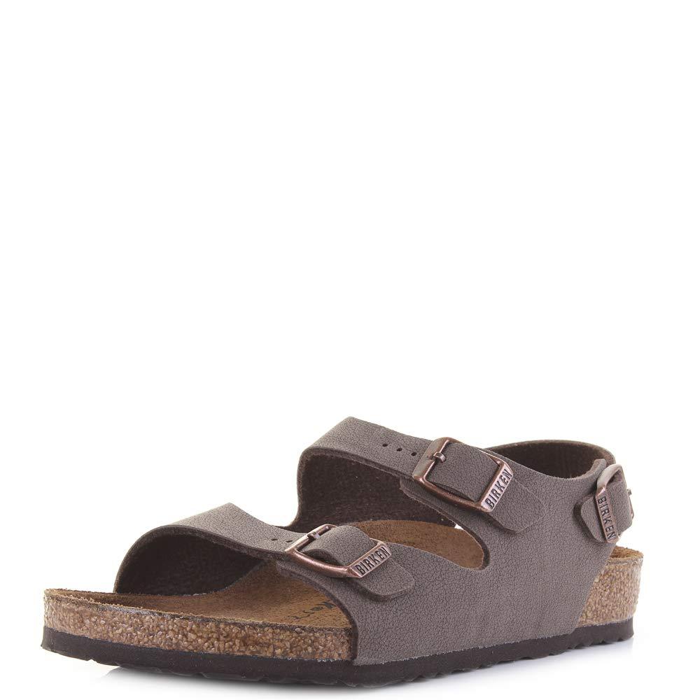 Birkenstock Kids Roma Mocha Brown Rear Strap Boys Sandals Size 11