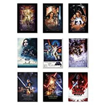 "Star Wars: Episode I, II, III, IV, V, VI, VII, VIII & Rogue One - Movie Poster Set (9 Individual Full Size Movie Posters - Version 2) (Size: 27"" x 40"" each) (By POSTER STOP ONLINE)"