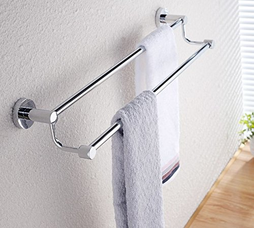 LVLIDAN Contemporary Towel bar Washroom rails stainless steel Double layer wall mounted 70cm by LVLIDAN Towel Rail