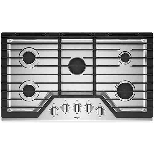 Whirlpool WCG97US6HS 36 Stainless 5 Burner Gas Cooktop