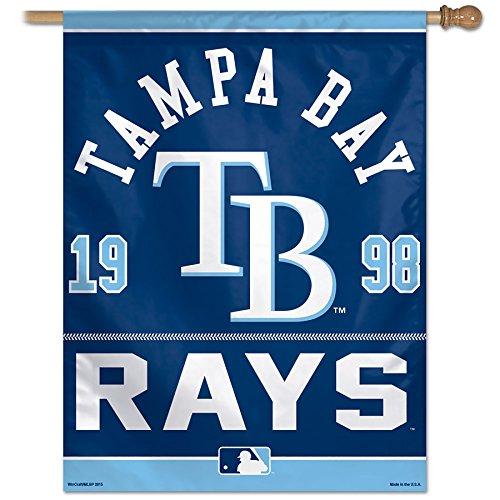 MLB Tampa Bay Rays Vertical Flag, 27 x 37-Inch