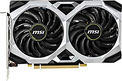 MSI Gaming GeForce GTX 1660 Ti 192-bit HDMI/DP 6GB GDRR6 HDCP Support DirectX 12 Dual Fan VR Ready OC Graphics Card (GTX 1660 TI Ventus XS 6G OC)