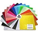 Styletech Self Adhesive Glitter Vinyl Sheets, 12 inches by 12 inches, 19 Pack