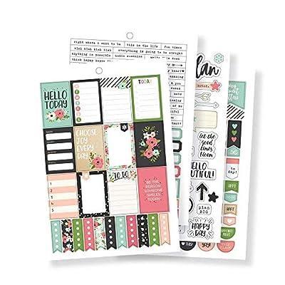 Carpe Diem by Simple Stories A5 Sticker Tablet - Bloom: Arts, Crafts & Sewing
