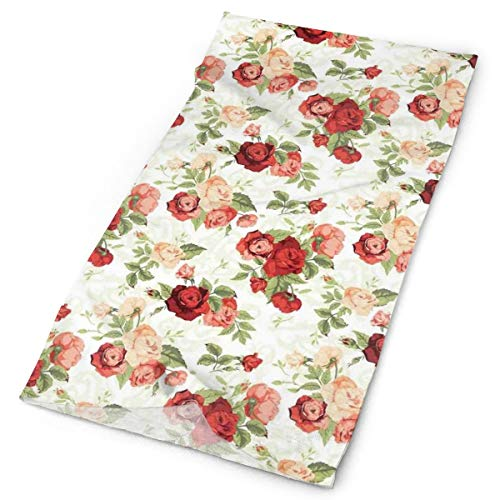 Headwear Headband Head Scarf Wrap Sweatband,Roses Bouquet Romance Holiday Love Anniversary Ornament Print,Sport Headscarves For Men - Holiday Ornament Bicycle