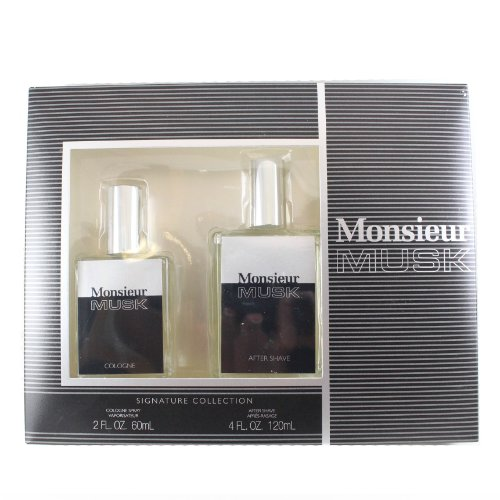 DANA Monsieur Musk 2 Piece Set for Men (Set 2 Cologne Piece)
