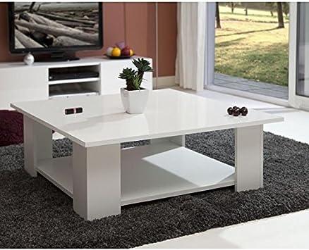 Générique basse carrée laqué Table blanc LIME plateau 6y7vbYfg