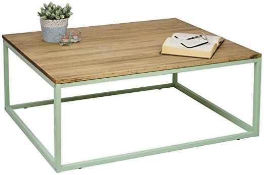 DS Dropshipping Mesa de Centro iCub Verde Limited Edition Madera ...