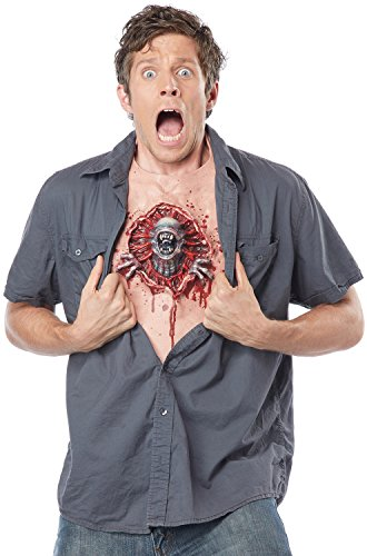California Costumes Men's Parasite Chest, Flesh/red One