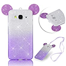 For Samsung Galaxy Grand Prime G530H G5308W Case,Vandot Exclusive Flexible Bling Glitter Sparkly Crystal Cover Soft TPU Silicone Bumper [Perfect Fit] [Anti-scratch] Protective Skin Shell-Mouse Ears