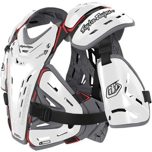 Troy Lee Designs CP 5955 Adult Roost Guard Off-Road/Dirt Bike Motorcycle Body Armor - White / Large (Shoei Designs Troy Lee)