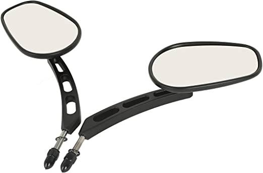 XMT-MOTOR 8mm Specchietto Retrovisore Adatto per Harley Davidson Touring Softail FL Dyna Sportster 883 Cromo