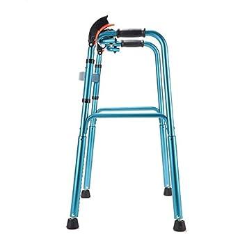 WTTFF* Aluminio Anciano Walker Altura Ajustable Ligero Plegable ...