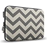 "Runetz - 15-inch Chevron Gray Hard Sleeve Case Cover for MacBook Pro 15.4"" with or without Retina Display, Laptop Gabbro Collection - Chevron Gray"
