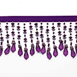 "Best Shades Of Purples - 2-5/8"" Long Beaded Fringe for Home Deco, Lamp Review"
