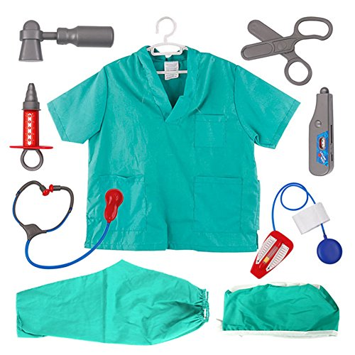 TOPTIE Doctor Nurse Role Play Set Dress Up