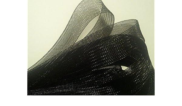 "White 40 mm W x 5 meters HAND /® Nylon Crin Trim Bridal Webbing /""Horses hair/"""