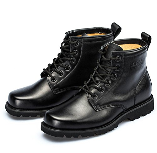 forze forze Antiscivolo Autunno black Combattere Scarpe Inverno Inverno Stivali traspirante Pelle Uomini All'aperto Corto Esercito Pizzo Nero Caviglia Speciale XwZWqWFPAv