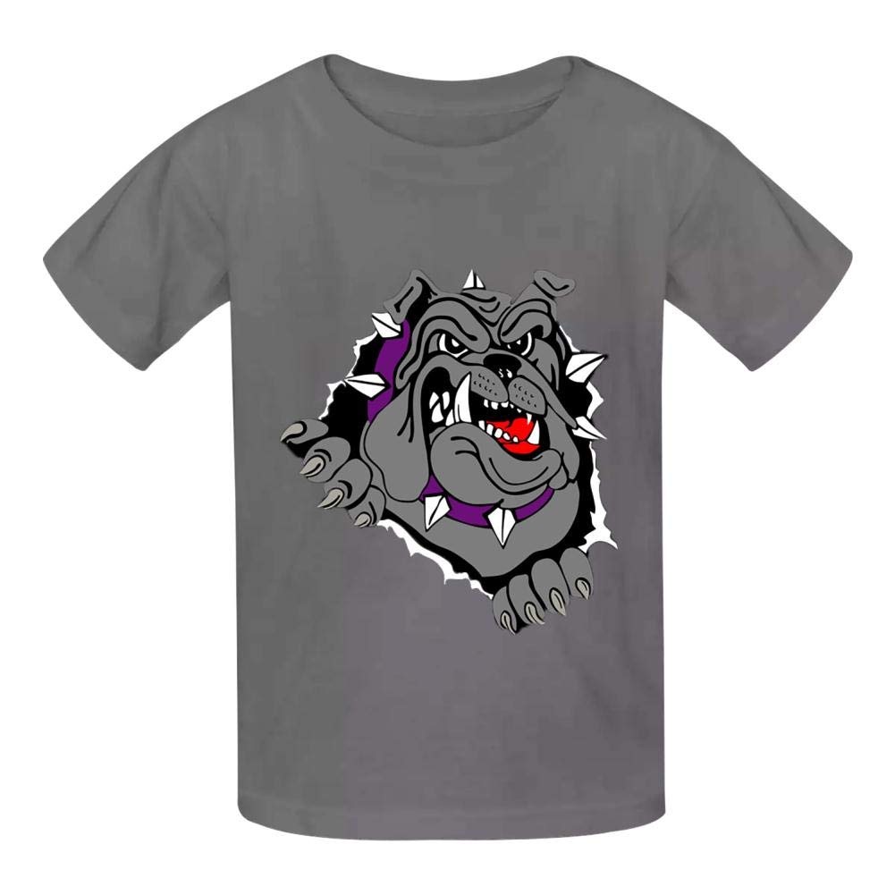 YYIL Bulldog Childrens Comfortable and Lovely T Shirt Suitable for Both Boys and Girls