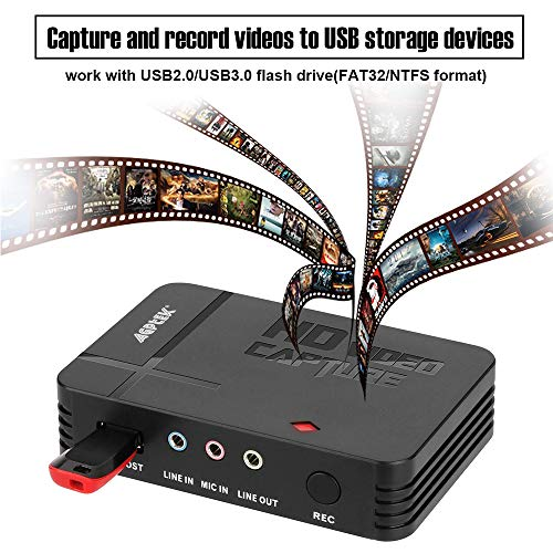 AGPtEK HD Game Capture Video Capture 1080P HDMI/YPBPR