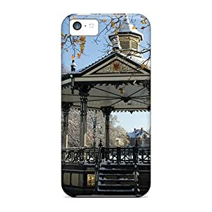 Durable Defender Cases For Iphone 5c Covers(fountain Gazibo In The Winter)