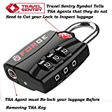 TSA Approved Luggage Locks, Zinc Alloy Body, Open
