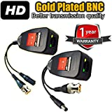 Product review for VENTECH NEW CCTV RJ45 CAT5 Cable Video Power Balun Gold Plated BNC HD Pasive video balun Transceiver Pair extra