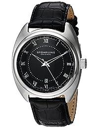 Stuhrling Original Men's 728.02 Symphony Aristocrat Twenty Swiss Quartz Date Black Dial Watch