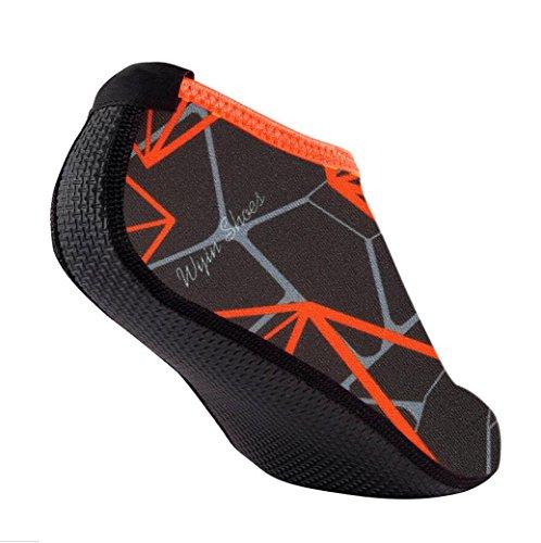 Watersportschoenen, Inkach Unisex Yoga Surfstrand Snorkelsokken Mannen / Vrouwen Zwemmen Duiksokken Zwemmen Op Blote Voeten Huidschoenen Grijs
