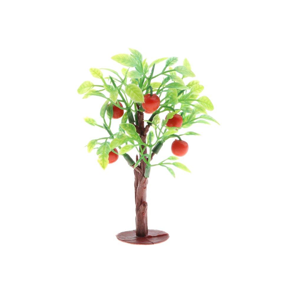 Baoblaze 2Pcs Plastic Miniature Trees, Scene Models Toy Set for Diorama Scenery Kids Toy