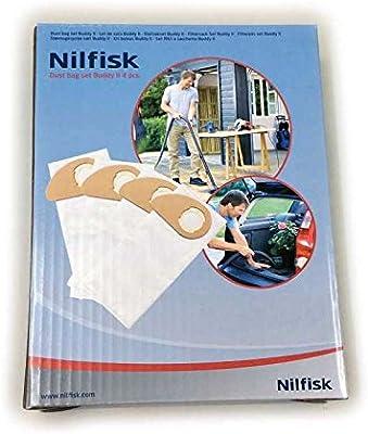 Nilfisk Bolsas para Aspirador de Bricolaje Buddy II, Blanco: Amazon.es: Hogar