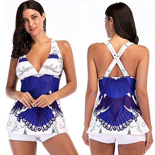 Auwer 2018 Hot Sale Split Swimsuit, Women Tankini Swimsuits Two-Piece Swimwear Bikini Sets Beach Wear (M, - Uk Racing Swimwear