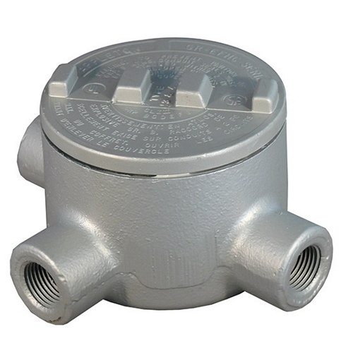 Appleton GRT125-A Conduit Outlet Box, Hazardous Location, Style T, Aluminum, 1-1/4'' Hub by Appleton (Image #1)