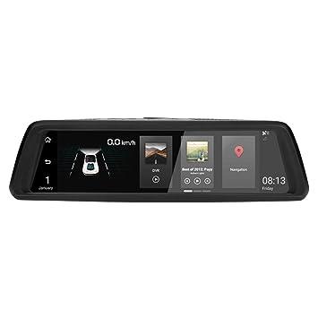 Phisung V9 - Cámara de Coche DVR 10 Pulgadas IPS de Doble Lente FHD 1080P 4G
