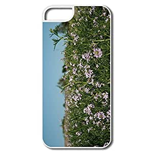 Case For Samsung Galaxy S5 Cover, Beauty Flowers Cases Case For Samsung Galaxy S5 CoverWhite Hard Plastic
