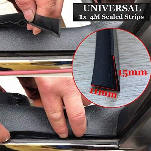 Black Lypum V-Shape Sealing-Strip Car Door Window Trim Edge Moulding Rubber Seal Strip