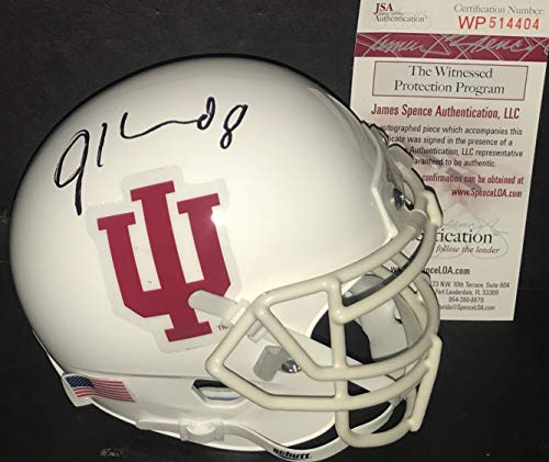 (Jordan Howard Indiana Hoosiers Autographed Signed Mini Helmet JSA WITNESS)