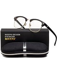 Semi Rimless Polarized Sunglasses Classic Metal Retro...