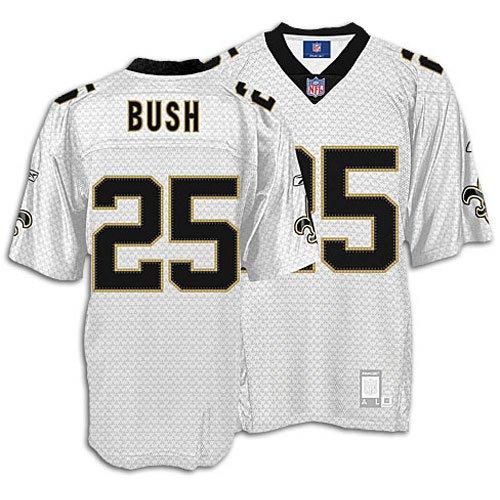 Saints - Reebok Men's NFL Vapor Jersey - Bush, Reggie ( sz. L, White : Bush, Reggie : #25 : Saints ) (Bush Reggie Replica Jersey)