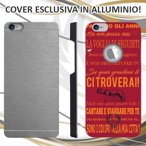CUSTODIA COVER CASE CORO ULTRAS ROMA ROSSO PER IPHONE 6 PLUS IN ALLUMINIO
