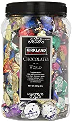 KIRKLAND Signature PREMIUM CHOCOLATES of the WORLD ASSORTMENT JAR NET WT 4 Pounds by Kirkland Signature