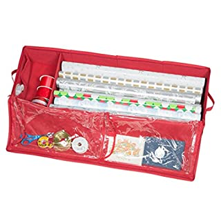 Christmas Storage Organizer   Wrapping Paper Storage And Under Bed Storage  Container For Holiday Storage