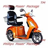 E-Wheels - EW-36 Full-Sized Scooter - 3-Wheel - Orange - PHILLIPS POWER PACKAGE TM - TO $500 VALUE